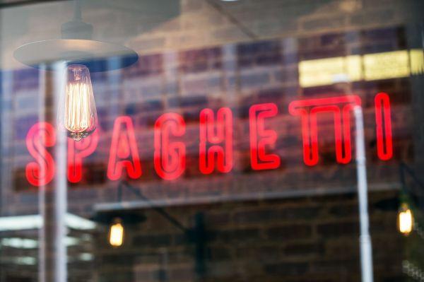 Spaghetti Neon Sign photo