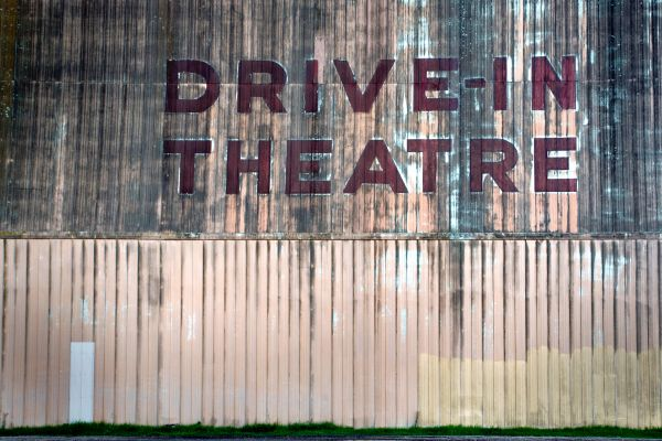 Drive in Theater Rustic Sign photo