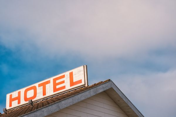 Retro Hotel Sign photo