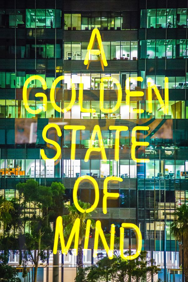 Golden State Of Mind Neon Sign photo