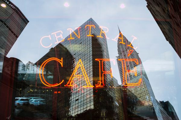 Central Cafe Neon Sign photo