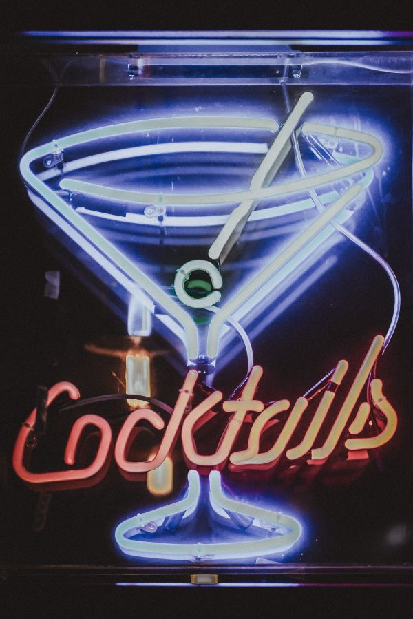 Cocktails Bar Neon Sign photo