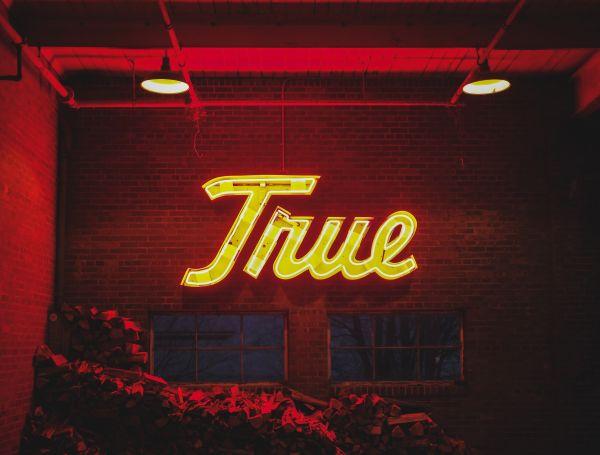True Neon Sign Red Yellow photo