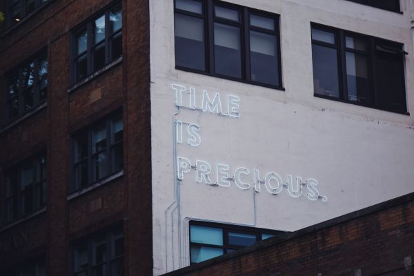 Time Is Precious Neon Sign photo