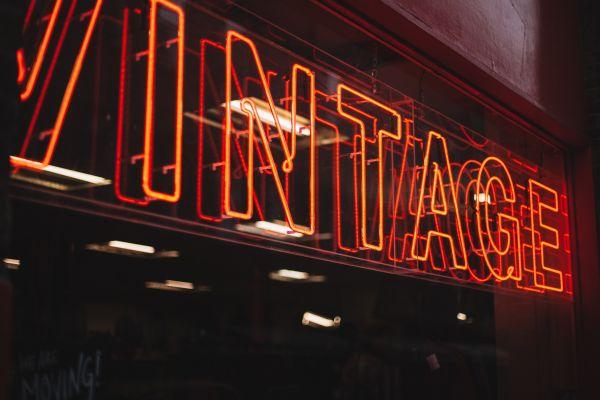 Vintage Neon Sign photo