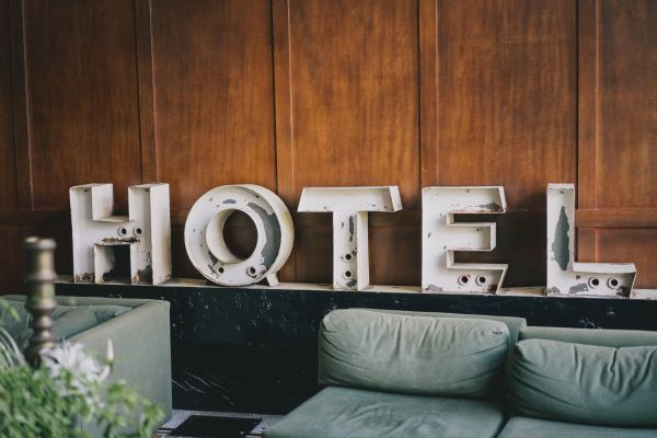 Old Hotel White Sign photo