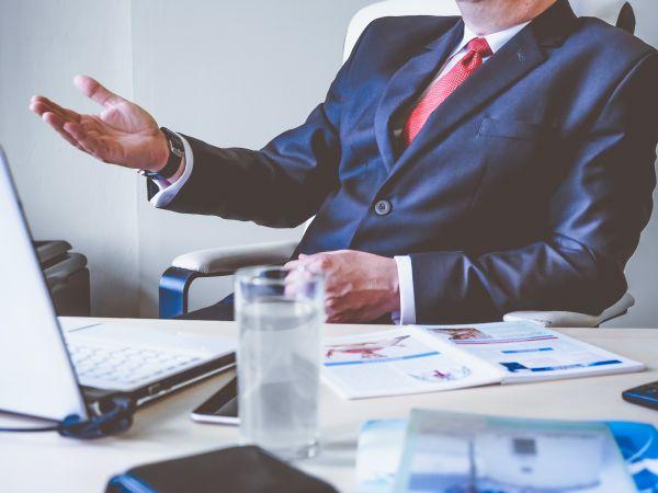 Man Business Talking Desk photo