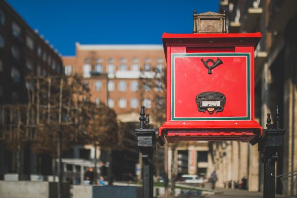 Red Letter Box Vintage photo
