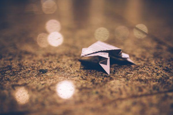 Origami Bokeh photo