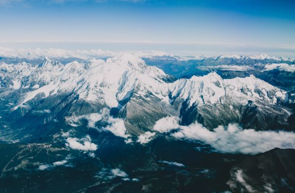 Mountain Aerial Snow photo