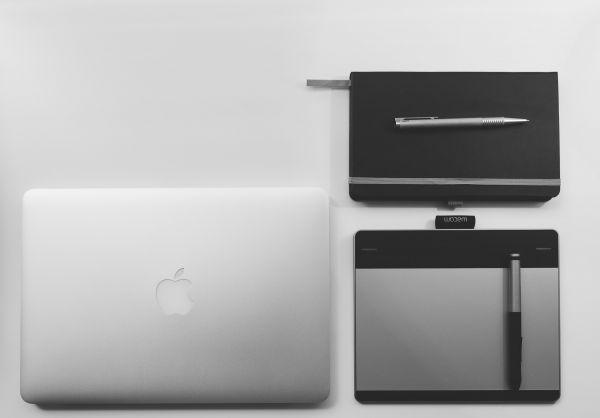 Closed MacBook Stylus Notepad photo