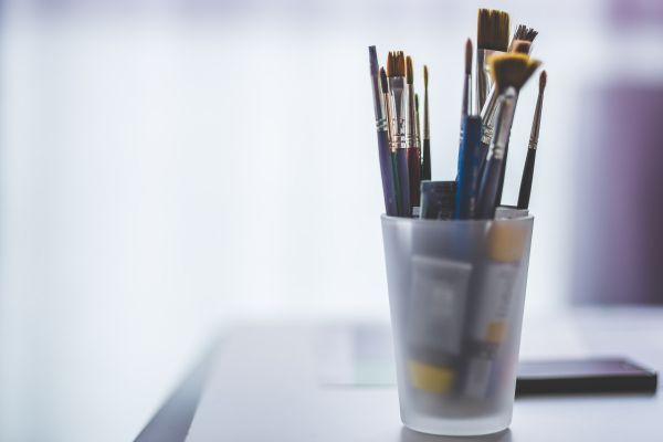 Artist Brushes Minimal photo