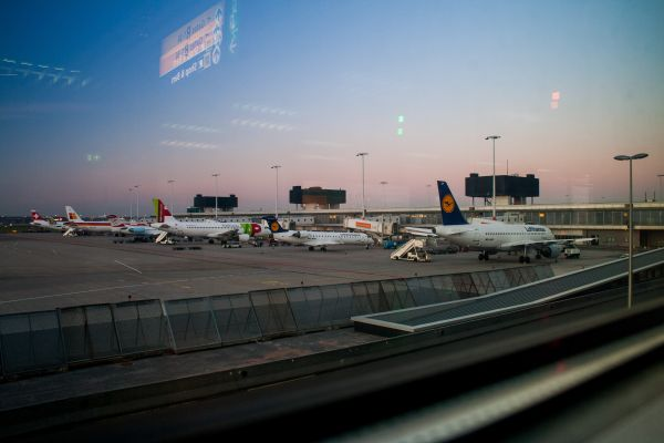 Airport Plan Sunset photo