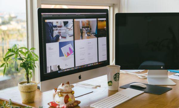 Web Design on a Mac photo