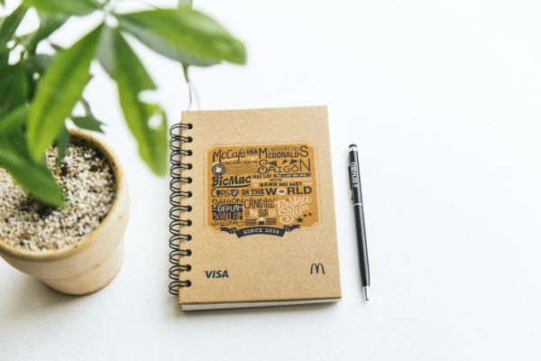 Rustic Notepad and Pen photo
