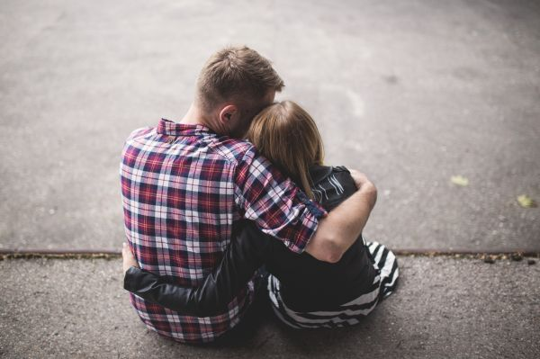 Young Couple Cuddling photo
