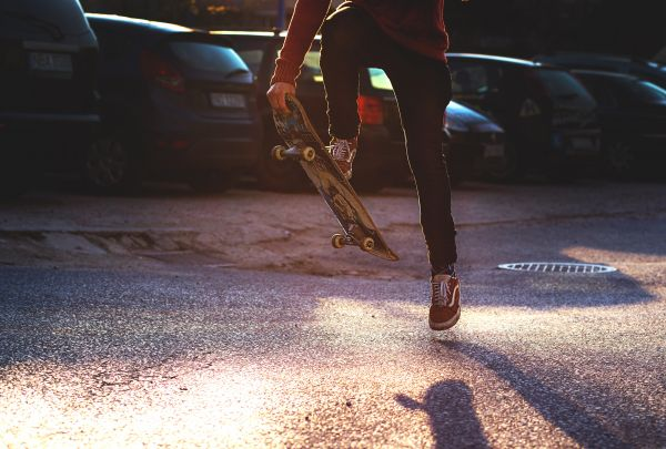 Riding a Skateboard photo
