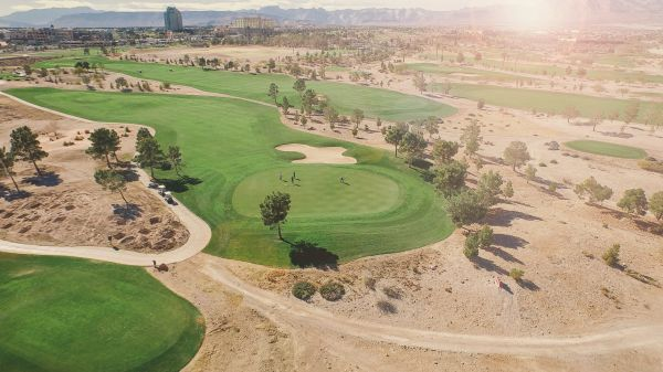 Aerial View of Golf Course photo