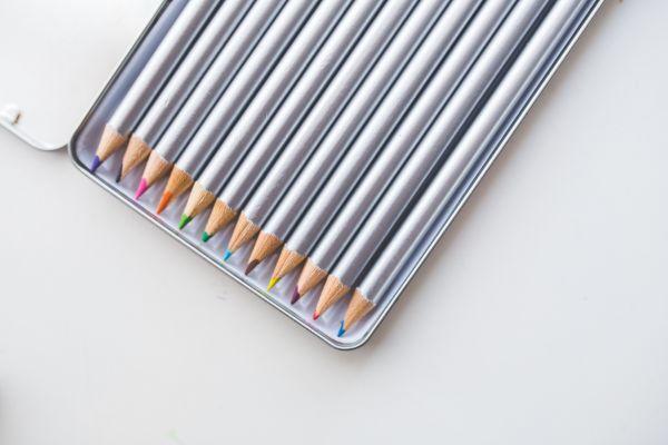 Colored Pencils in Box photo