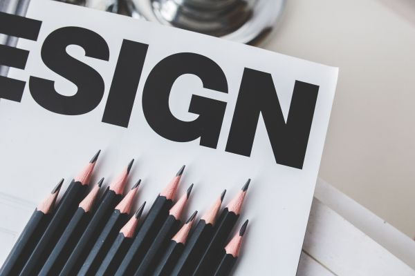 Black Pencils and Design Sign photo