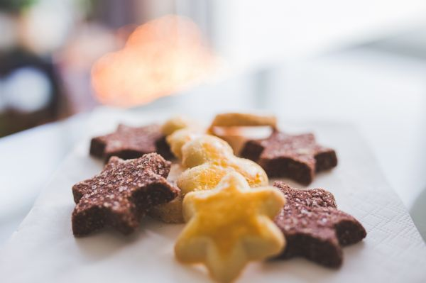Bokeh Star Shaped Cookies photo