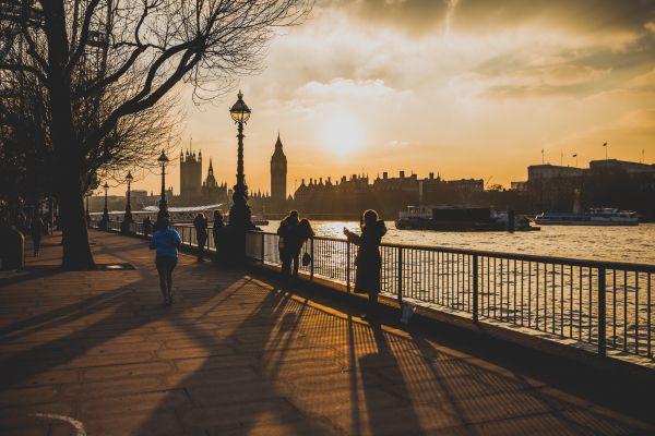 London Sunset River Thames photo
