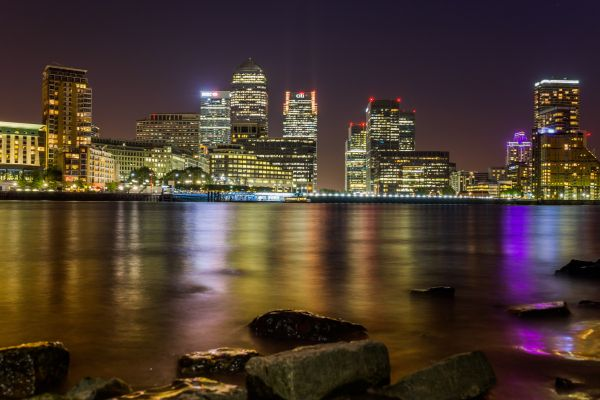 Riverside View of Skyscrapers photo