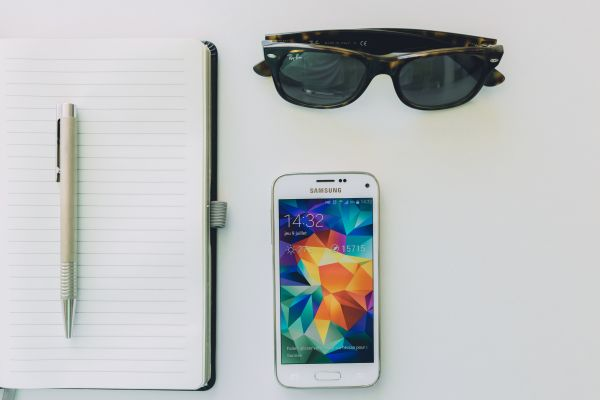 Sunglasses, Notepad and Android photo