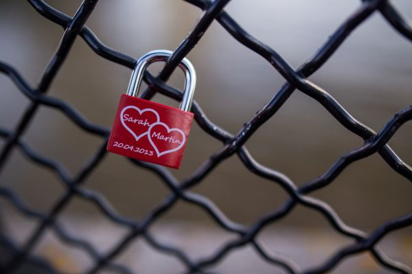 Love Padlock on Fence photo