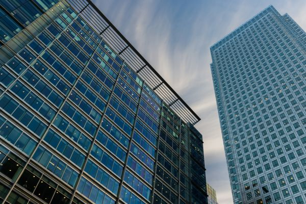 Glass Skyscrapers in London photo