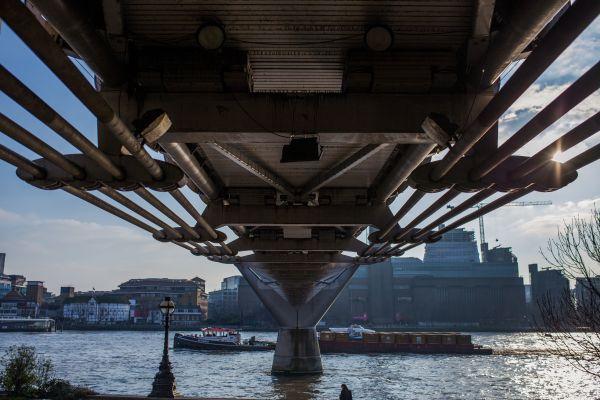 Looking Under Bridge in London photo