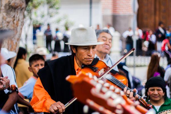 Man Playing Violin Street photo