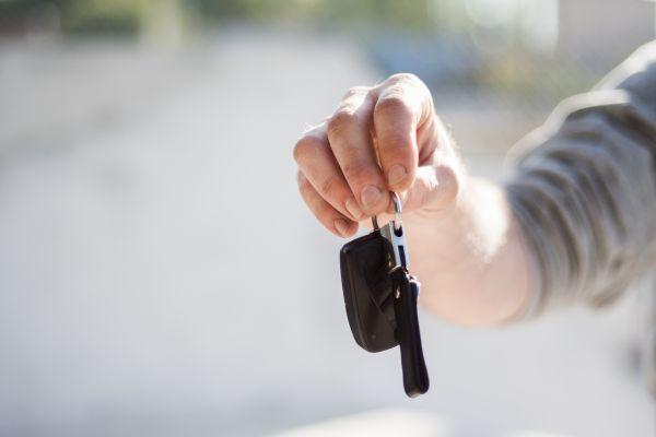 Handing Over Car Keys photo