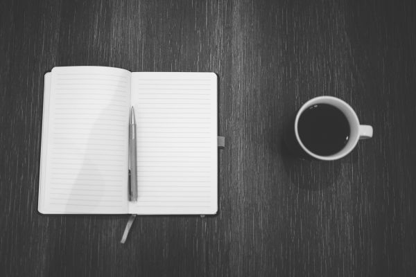 Coffee Cup and Notepad photo