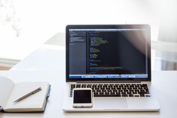 Coding on a MacBook Pro photo