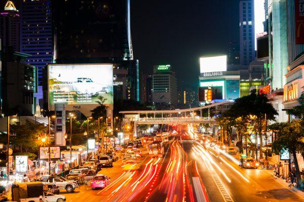 City Traffic at Night photo