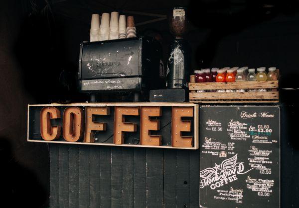 Rustic Coffee Sign photo