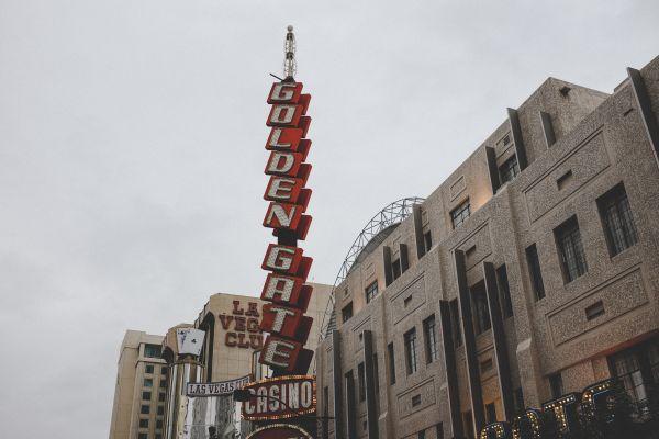 Golden Gate Casino Neon Sign photo