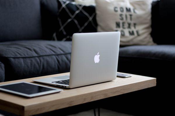 Mac, iPhone & iPad on Coffee Table photo