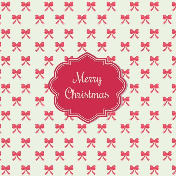 Christmas background with badge vector