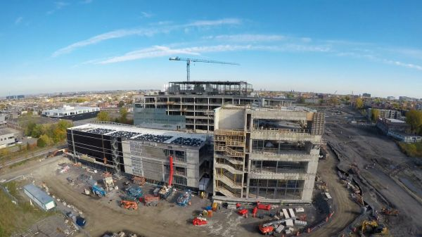 Construction Site Aerial Review – 4k Multicut video