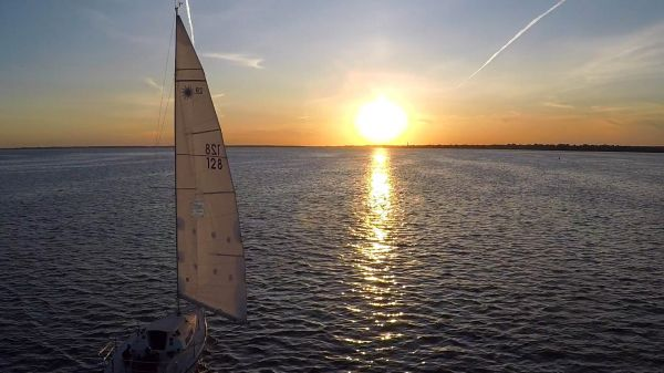 Aerial Sailboat at Sunset – Multicut video