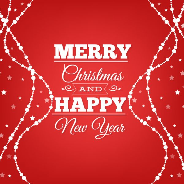 Christmas background with typograpgy vector