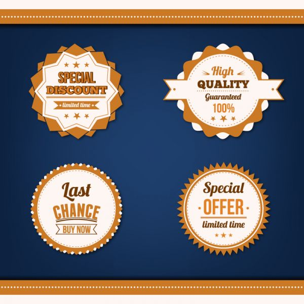 Sale badges vector set vector
