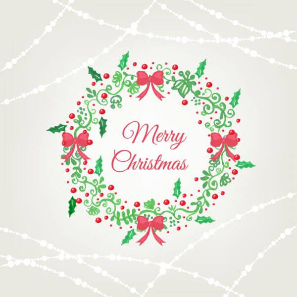 Christmas background with frame vector