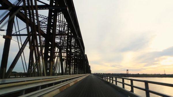 Driving  bridge  tourism video