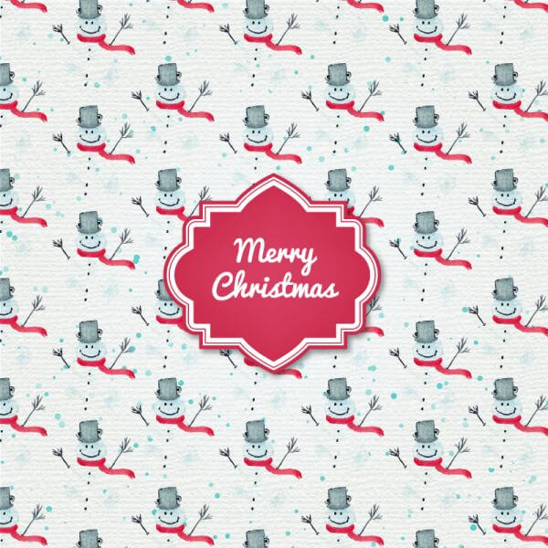 Christmas background with badge and santa vector