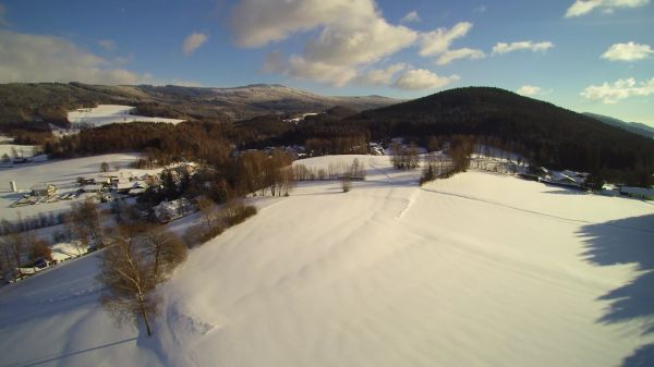 Drone  drones flying  winter video