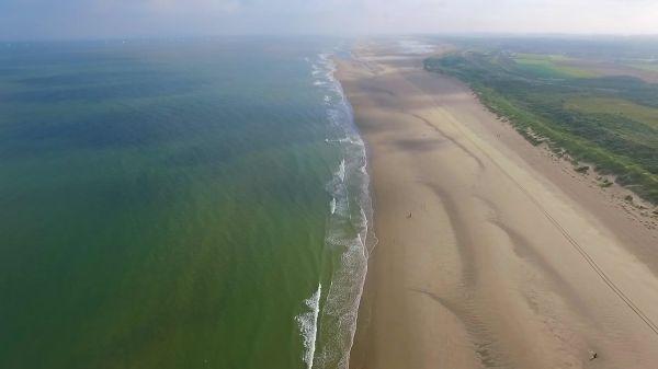 Beach  coast  clouds video