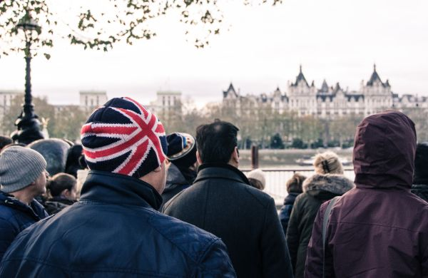 Man wearing union jack cap photo